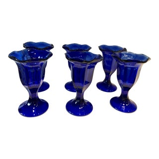 Blue 1960s Ice Cream Cups, Set of 6 For Sale