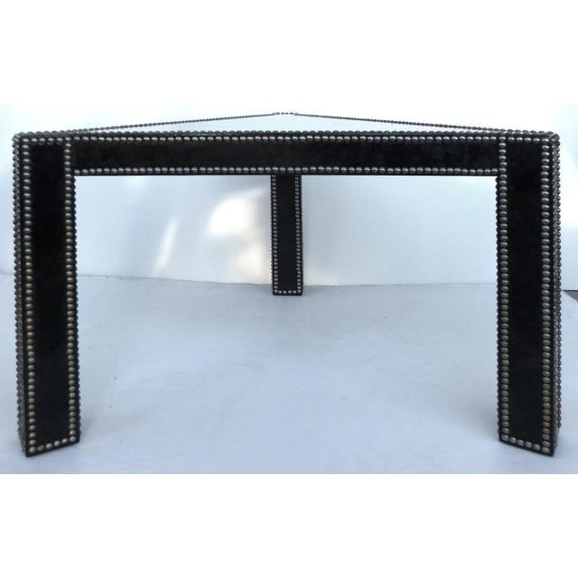 Regency Style Parchment & Studs Triangle Tables - A Pair For Sale - Image 4 of 9