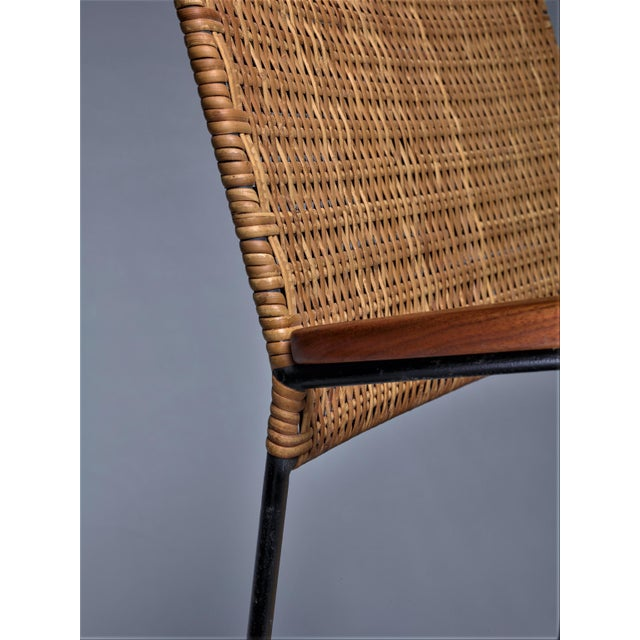 1960s Rare Arden Riddle Armrest Chair in Rattan For Sale - Image 5 of 5