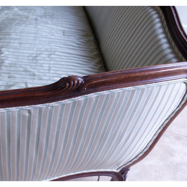 Italian Louis XV Style Walnut Sofa For Sale - Image 11 of 13