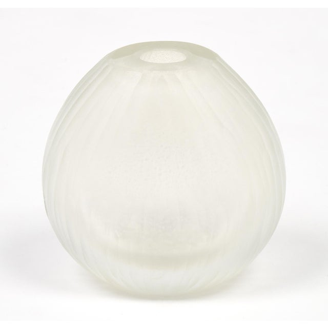 Luxury Frosted Murano Glass Vases Set Of 3 Decaso