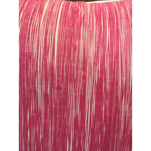 Down Pink Striped Pillows - A Pair - Image 4 of 5