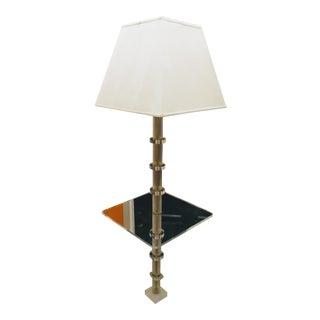 Vintage Mid Century Modern Lucite Table Floor Lamp For Sale