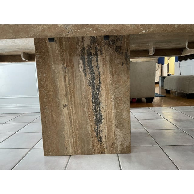 Mid 20th Century Contemporary Natural Stone Dining Table For Sale - Image 4 of 10