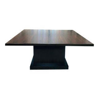 Custom Square Solid Walnut Conference or Dining Table For Sale