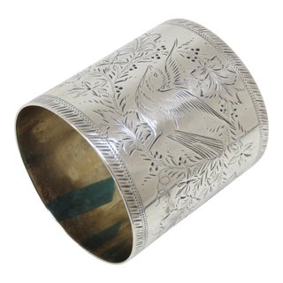 Oversized Antique Sterling Silver Napkin Ring Circa 1880s For Sale