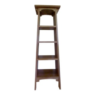 Stickley Mission Magazine Pedestal Shelf