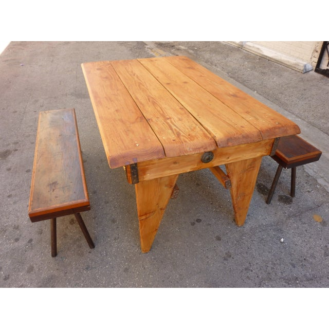 Shajan Table And Two Benches - Image 5 of 6