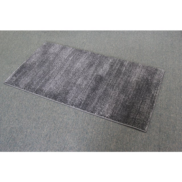 Black & Gray Stripe Rug - 3′ × 5′ - Image 4 of 5