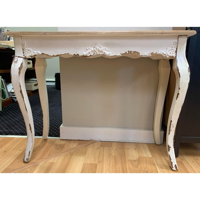 Rustic Cyan Cotswold Console Table For Sale - Image 3 of 3