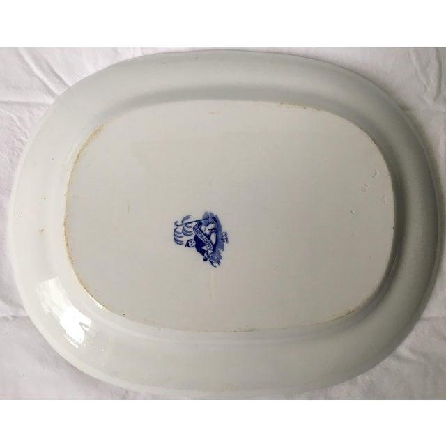 Minton 19th Century Chinoiserie Ironstone Transferware Platter For Sale - Image 4 of 9