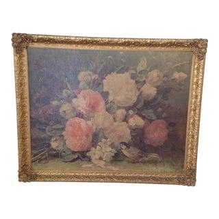 Jean Baptiste Robie Floral Print For Sale