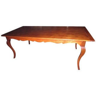 19th Century French Country Fruitwood Dining Table For Sale
