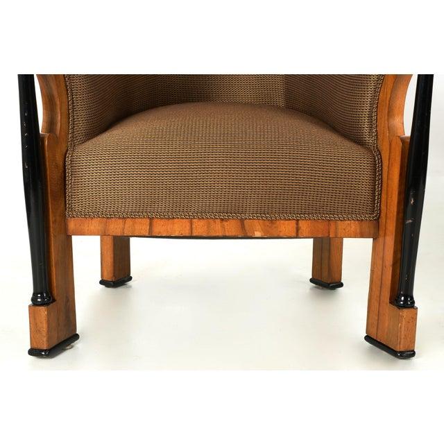 Pair of Ebonized Biedermeier Tub Arm Chairs, Circa 1825 For Sale - Image 6 of 10