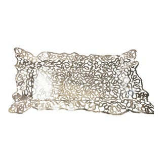 Metal Lace Decorative Tray For Sale