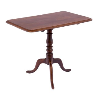 Early 19th Century Regency Mahogany Tea Table For Sale