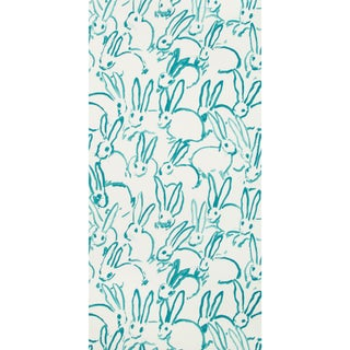 Hunt Slonem for Lee Jofa, Hutch Wallpaper Roll, Turquoise, 10 Yards For Sale