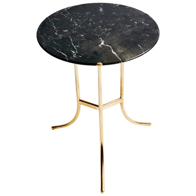 Cedric Hartman Brass and Marble Side Table For Sale - Image 9 of 9
