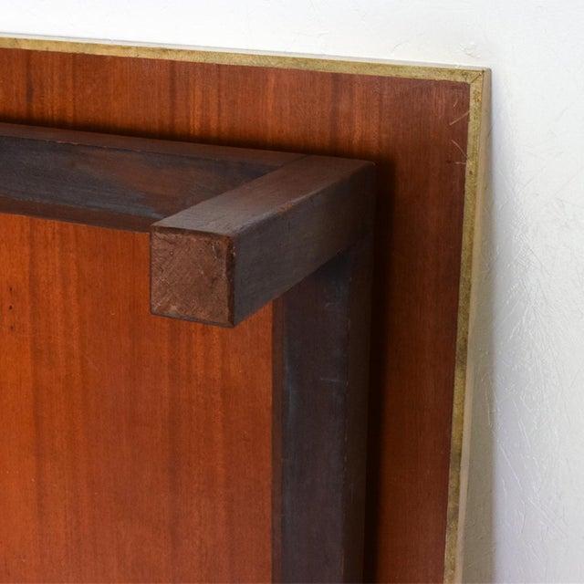 Wood Maria Teresa Mendez Coffee Table, Goatskin Mahogany, Mid Century Mod For Sale - Image 7 of 10