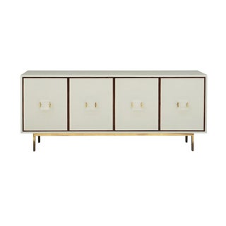 Worlds Away Modern Cream Shagreen Four Drawer Manchester Sideboard/Cabinet For Sale