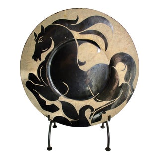Biot, France Horse Motif Decorative Charger For Sale