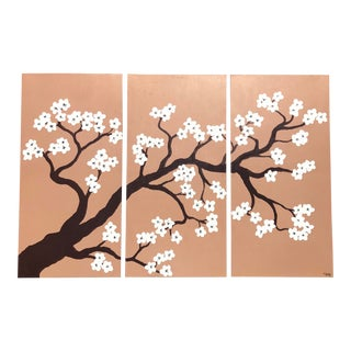 Vintage Hand-Painted Chinoiserie Panels For Sale