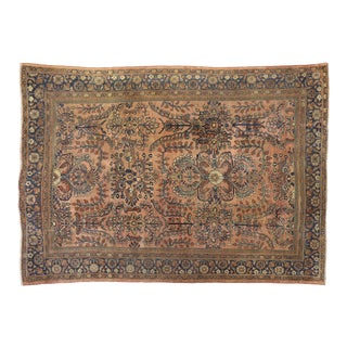 Antique Persian Lilihan Rug - 08'02 X 11'07 For Sale