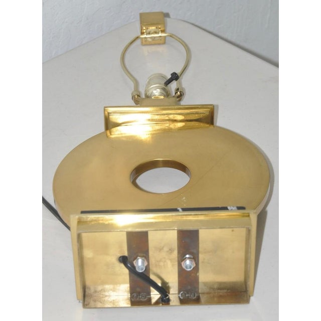 Metal Pair of Robert Abbey Vintage Brass & Marble Table Lamps For Sale - Image 7 of 7