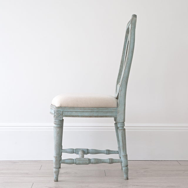 Gustavian (Swedish) Rosa Gustavian Dining Chair For Sale - Image 3 of 11