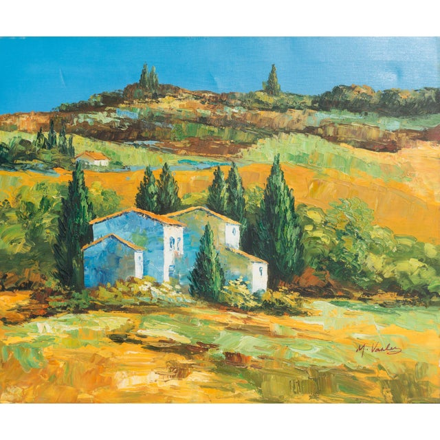 M. Vanly Tuscan Summer Landscape Oil Painting - Image 1 of 6