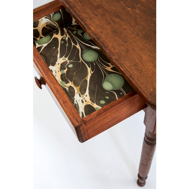 Country 19th Century Early American Table With Lined Drawer For Sale - Image 3 of 6