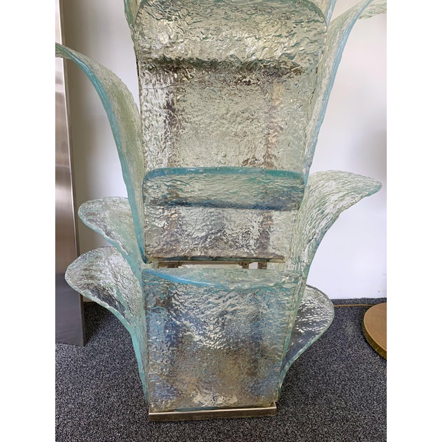 Turquoise Floor Lamp Cactus Lt 320 by Carlo Nason for Mazzega Murano, 1970s For Sale - Image 8 of 10