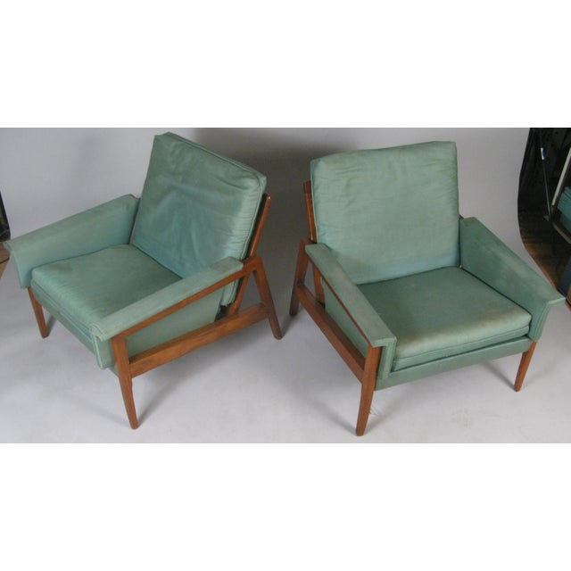 1950s 1950s Walnut Lounge Chairs - a Pair For Sale - Image 5 of 9