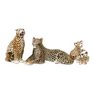 1960s Italian Leopard Family