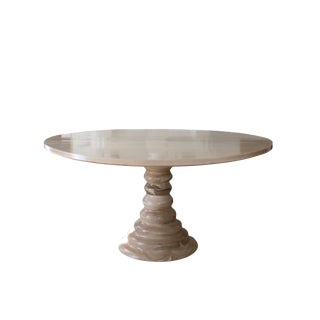 Modern Amelia Round Wooden Dining Table For Sale