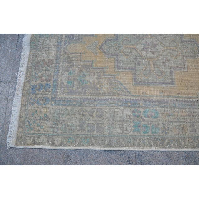 Turkish Oushak Handwoven Rug - 4′3″ × 8′2″ For Sale In Austin - Image 6 of 6