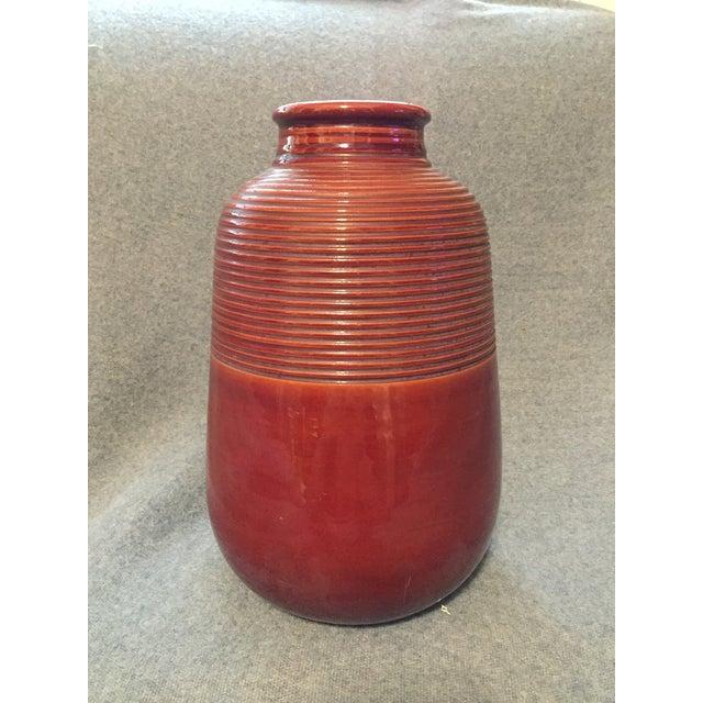 Italian Mid-Century Modern Terra Cotta Vase For Sale - Image 12 of 12