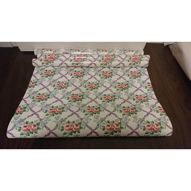 """Waverly Cordelia Floral pretty for any room, 27"""" x 9 yard we have 4 rolls"""