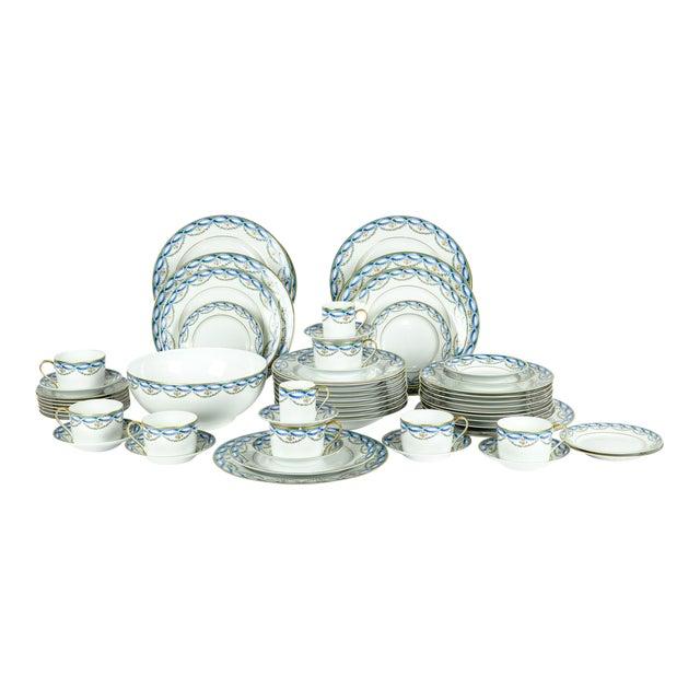 Limoges Made for Tiffany Dinner Set - Set of 42 For Sale