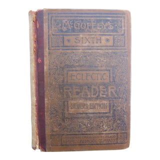Antique McGoffey's Sixth Eclectic Reader School Book For Sale