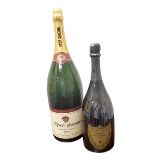 Vintage Champagne Bottles - a Pair For Sale