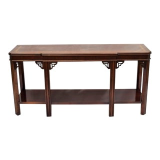 Lane Chippendale Console Table For Sale
