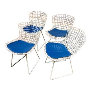 1960s Vintage Bertoia for Knoll Wire Chairs - Set of 4 For Sale