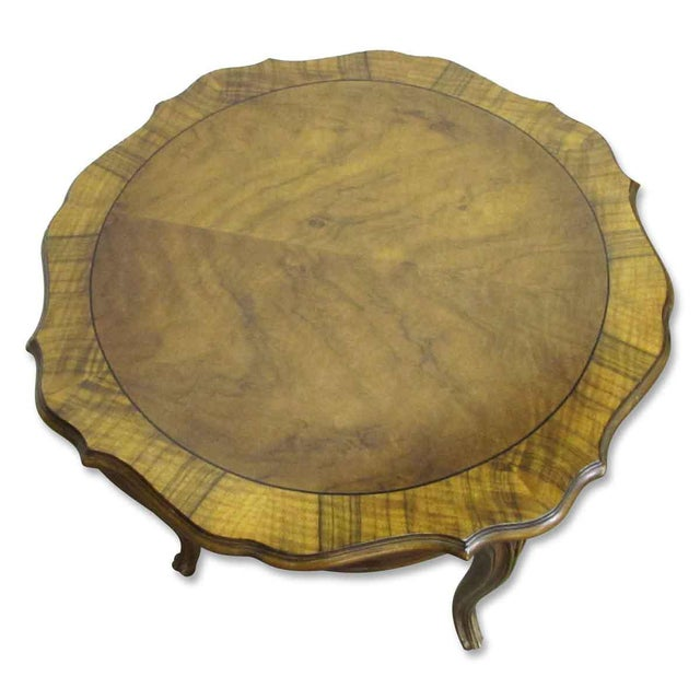 Floral Carved Wood Coffee Table - Image 7 of 7