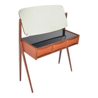 Arne Vodder Teak V- Legged Vanity For Sale