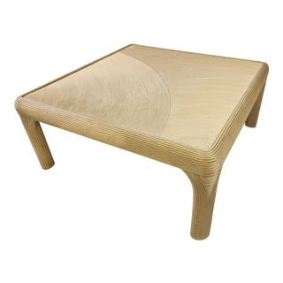Pencil Reed Rattan Coffee Table For Sale
