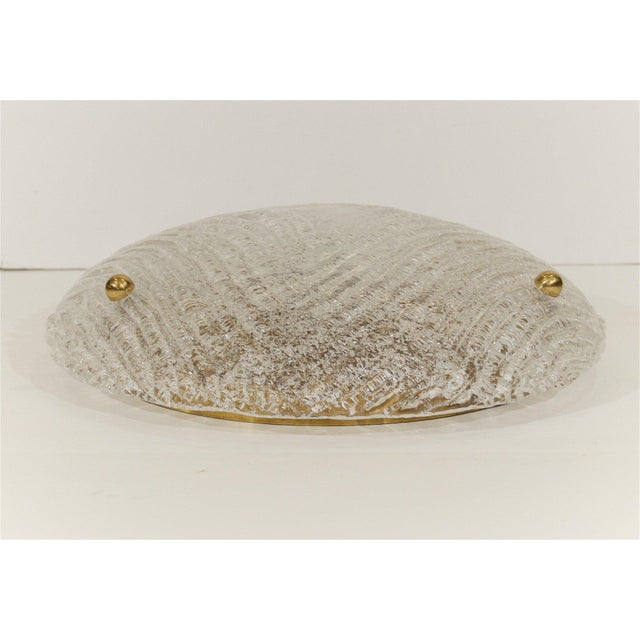 Round Domed Flush Mount by Hillebrand For Sale In New York - Image 6 of 8
