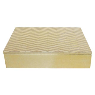 Ivory and Brown Shagreen Box Final Clearance Sale For Sale