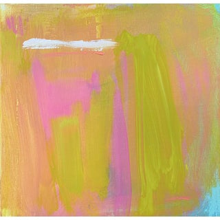 """""""Cloud One"""" by Trixie Pitts Small Abstract Expressionist Oil Painting For Sale"""