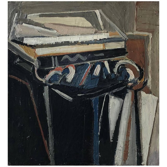 20th Century Blue Abstract Still Life Painting by Daniel Clesse For Sale - Image 4 of 4